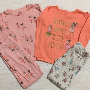 Carter's - Bundle of 2 Ballerina Pajama Sets